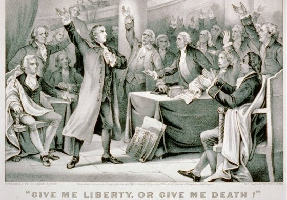 an analysis of the speech of patrick henry in 1775 Resolutions were presented by patrick henry putting the colony of virginia into a posture of defense following his speech patrick henry - march 23, 1775.